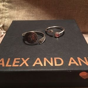 TWO Alex and Ani rings! Bargain alert!!!!!